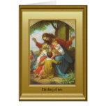 Jésus et les enfants cartes de vœux