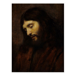 Jesus Face Side View Post Card