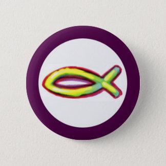 Jesus Fish 2 Inch Round Button