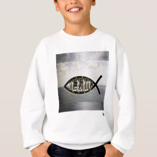 Jesus fish 2 sweatshirt