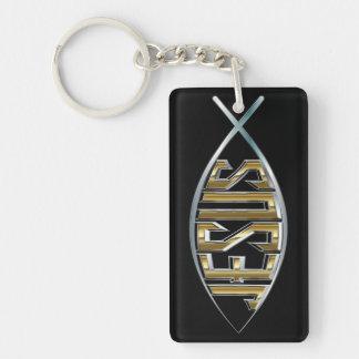 Jesus Fish Cutout Keychain