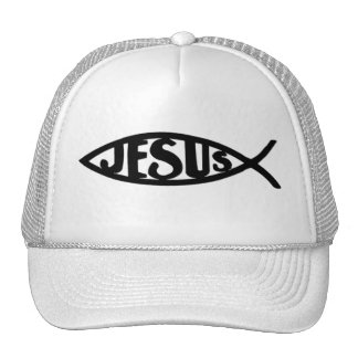 Jesus Fish (Hat Black)
