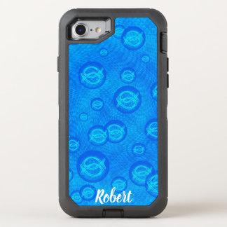 Jesus fish in blue bubbles OtterBox defender iPhone 8/7 case