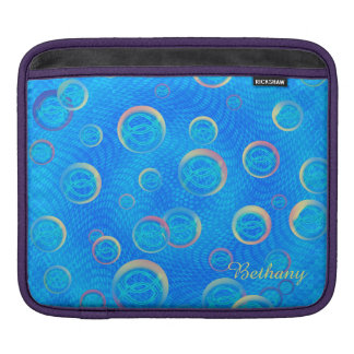 Jesus fish in bubbles iPad sleeve