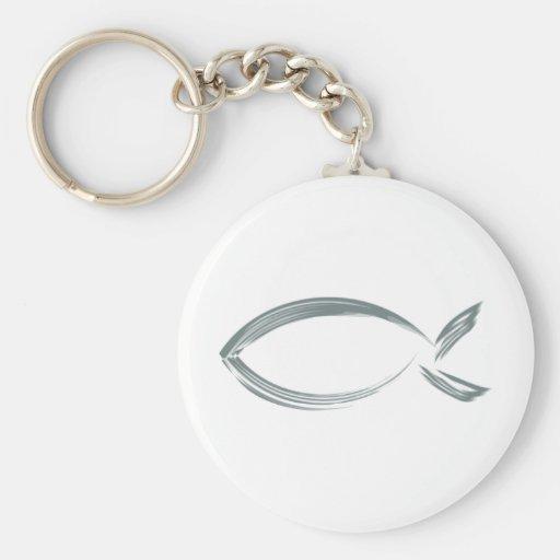 Jesus fish key chain