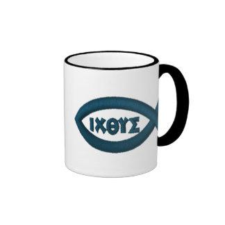 Jesus Fish Coffee Mugs