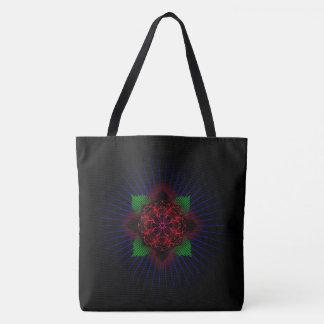 Jesus fish rose tote bag