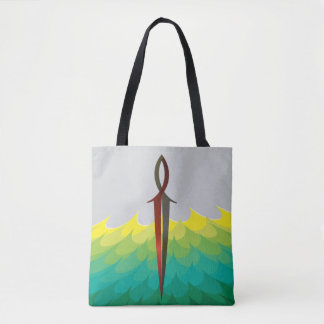 Jesus Fish Sword Tote Bag