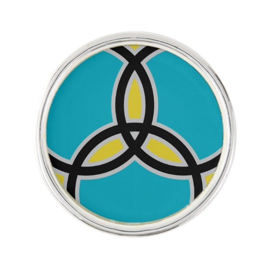 Jesus Fish Trinity Stained Glass Lapel Pin