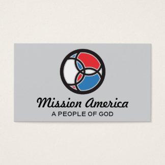 Jesus Fish Trinity Stained Glass USA Logo Business Card