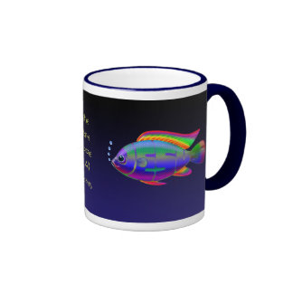 Jesus Fish with background Coffee Mugs