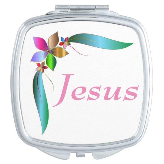 JESUS FLOWER RIBBON VANITY MIRROR