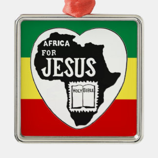 Jesus for Africa Metal Ornament