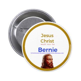 Jesus for Bernie 2 Inch Round Button
