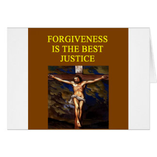 JESUS forgives justice Card