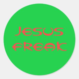 jesus freak classic round sticker