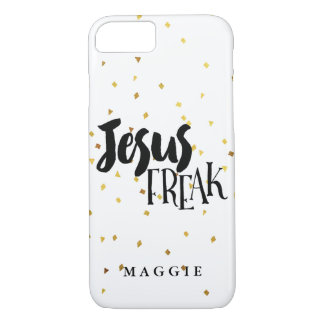 Jesus Freak Gold Shimmer Confetti iPhone 7 Case
