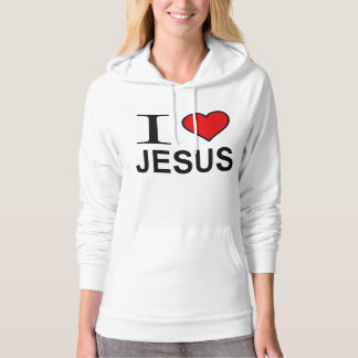 Jesus Gifts I Love Jesus Logo fleece pullover