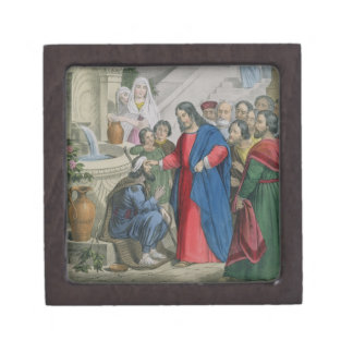Jesus Gives Sight to One Born Blind, from a bible Premium Gift Boxes