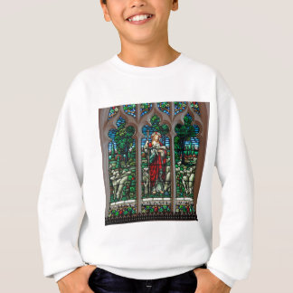 Jesus Good Shepherd Savior Mosaic Sweatshirt