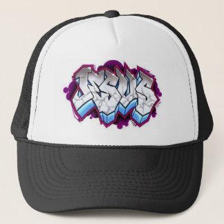 jesus graffiti trucker hat
