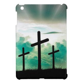 Jesus Has Risen (Three Crosses) iPad Mini Cover