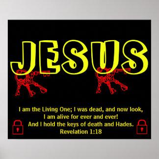 Jesus Has The Keys Poster