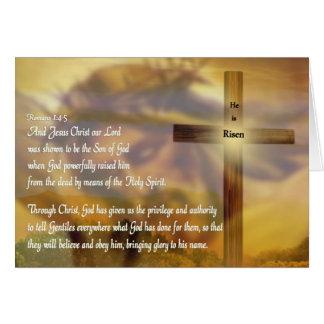 Jesus - He Is Risen - Easter Card