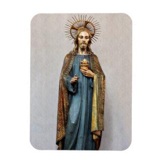 Jesus Holding Golden Sacred Heart Magnet