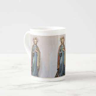 Jesus Holding Golden  Sacred Heart Tea Cup