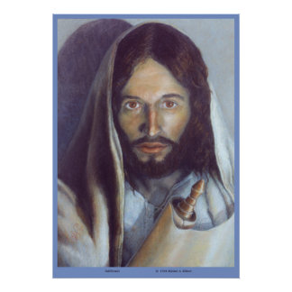 """Jesus holding the Torah - """"Fulfillment"""" of the Law Poster"""