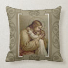 Jesus holding Young Child Throw Pillow