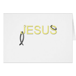 Jesus hook And Fish Card