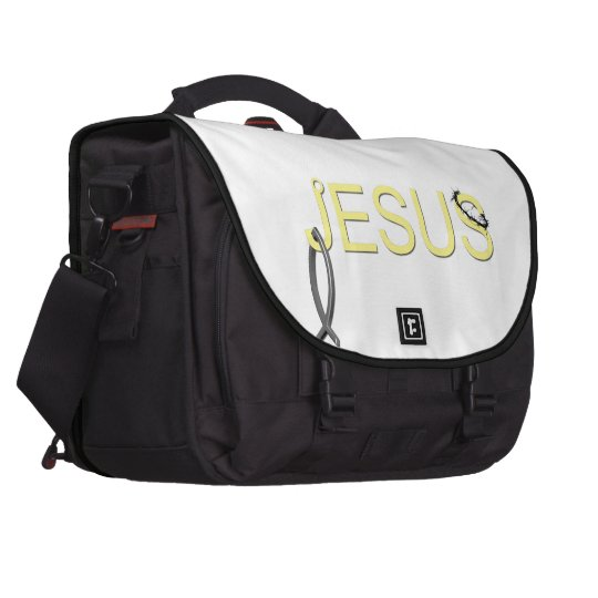 Jesus hook And Fish Laptop Bag