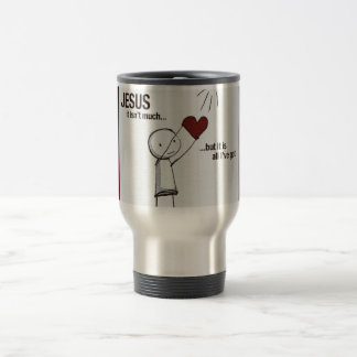 Jesus I give you my heart 15 Oz Stainless Steel Travel Mug