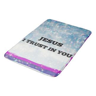 Jesus I Trust Bathroom Mat