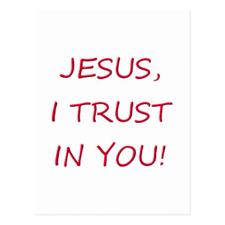 Jesus I trust in you Postcard