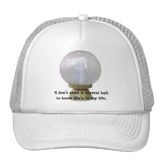 Jesus In A  Crystal Ball Trucker Hat