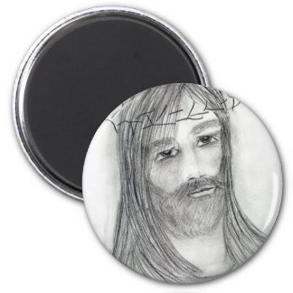 jesus in agony 2 inch round magnet