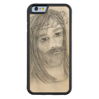 jesus in agony carved maple iPhone 6 bumper case