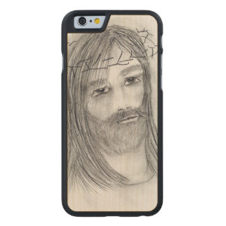 jesus in agony carved maple iPhone 6 case