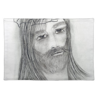 jesus in agony place mat