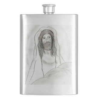 Jesus In Cave Hip Flask