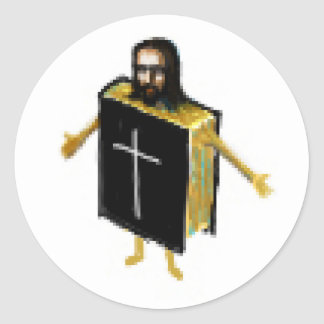 Jesus in the Bible Classic Round Sticker