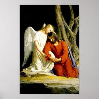Jesus in the Garden of Gethsemane Poster