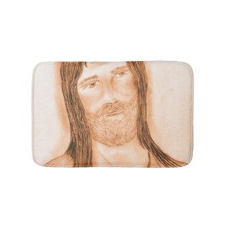 Jesus in the Light Bathroom Mat