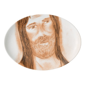 Jesus in the Light Porcelain Serving Platter