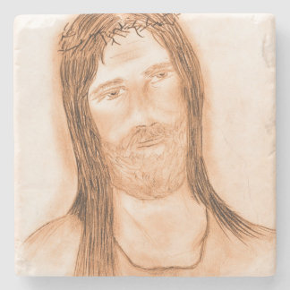 Jesus in the Light Stone Coaster