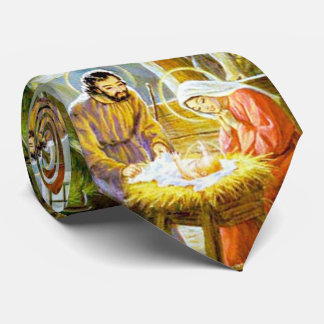 Jesus In The Manger Christmas Nativity Tie