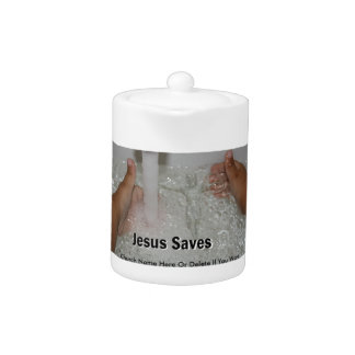 Jesus In Water With Two Thumbs Up Church Promotion
